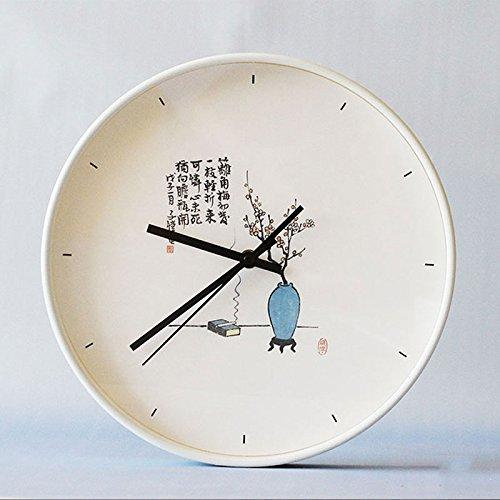 Neue Taschenuhr (Chinesischen stil wanduhr neue Chinesischen stil wohnzimmer schlafzimmer persönlichkeit taschenuhr leise weiß ( Color : Lamei ))