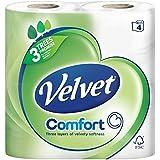 Velours Tissus Triple Couche De Toilette Blanc - 200 Feuilles Par Rouleau (4)