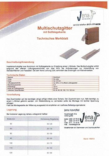 ALU Insektenschutzgitter Vogelschutzgitter Multiband 100 mm x 12m