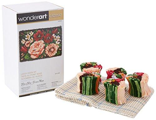 WonderArt 20x 76,2Kit de ganchillo de alfombra 'Divine Floral