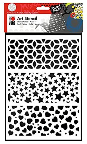 Marabu 028500009 Polyester Art stencil papeterie - papeteries (Art stencil, Adultes, Polyester, 210 mm, 297 mm)