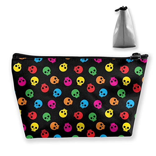 Colorful Sugar Skull Multifunction Travel Makeup Bags Storage Bag Organizers With Zipper -