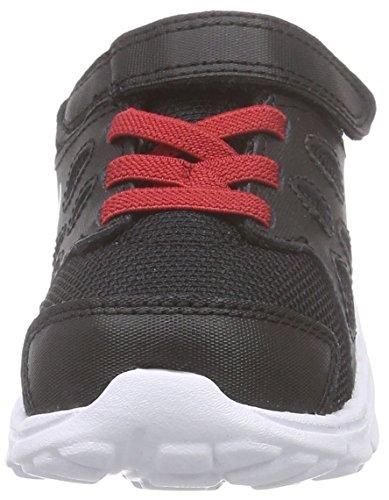 Nike Revolution 2 TDV, Baskets premiers pas mixte bébé Multicolore (Black/Red)