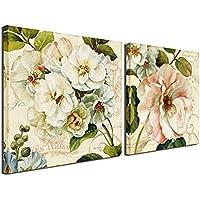 Lienzo con diseño de flor, obras de arte para la pared, flores abstractas para la sala de estar, oficina, dormitorio, 30,50 x 30,50 cm, enmarcado,