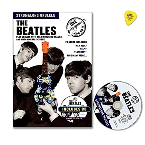 Strumalong Ukulele The Beatles - All You Need Is Love, Hey Jude, Michelle, Yesterday ... - Songbook mit CD und Dunlop Plek