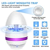 Sunnest Bug Zapper, Mosquito Killer Lamp, Electronic Insect Killer, Safe USB Powered Mosquito Zapper with Built in Fan Insect Trap for Indoor Outdoor Bedroom Baby Room Kitchen Office, Purple