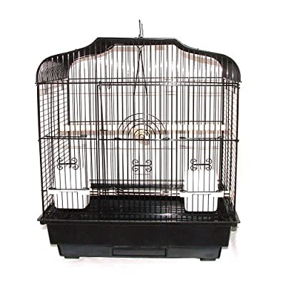 Bird Cage Black Lazaiza Budgie Canary by DAHAK INTERNATIONAL LTD