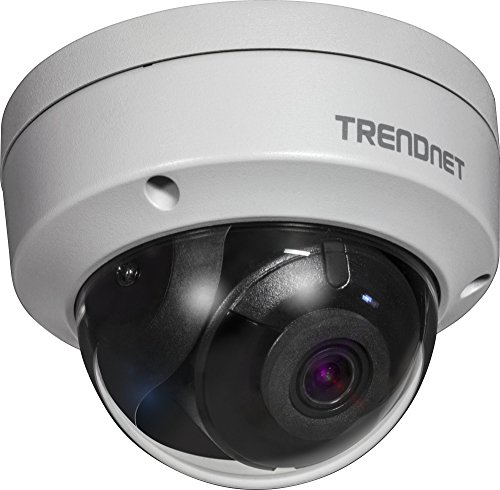 TRENDnet Indoor/Outdoor 4 Megapixel HD PoE IR Dome Tag/Nacht Netwerk Kamera, Digital WDR, 2688 x 1520p, IK10 Vandalismusschutz, IP66 zertifiziertes Gehäuse, 30 Meter Nachtsicht, ONVIF, IPv6,TV-IP315PI Digital Outdoor Tv