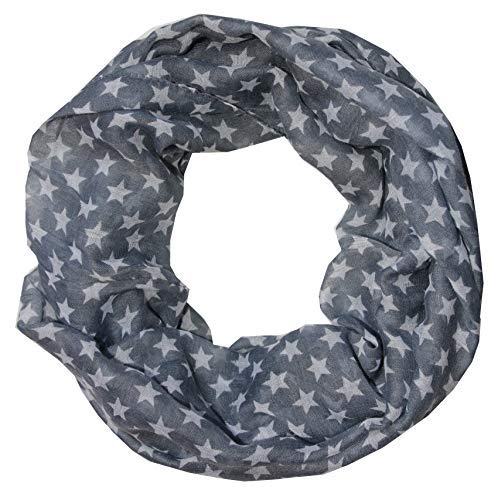 Stars buckle BN16-Gray women's scarf