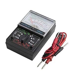 Electraline 59505 Multimetro Pinza Amperometrica Digitale Misuratore Autoregolabile Senza Contatto di Tensione Multi Tester di AC/DC Tensione & Corrente Resistenza Capacità Frequenza e Diodo