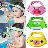BESTEU Verstellbare weiche Kids Kinder Baby Shampoo Bad Dusche Mütze Hut waschen Haare WasserDicht Schild