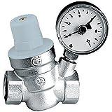 """Thermador 61049 - R53315M Reductor de presión de 1/2 """"con manómetro"""