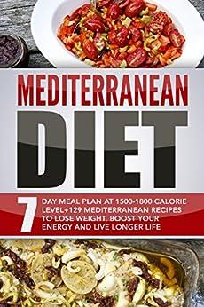 Mediterranean Diet: 7 Day Meal Plan At 1500-1800 Calorie ...
