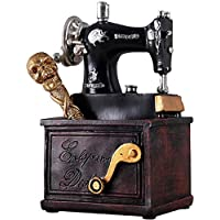 Escultura Resina Artwork Art Home Decoration Vintage Máquina Coser Pen Holder - Estatuillas Creativas Adornos Escritorio