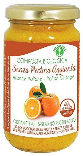 PROBIOS Orangen-Brotaufstrich - Gesüßt Nur mit Zucker aus Früchten, 3er Pack (3 x 220 g) (Für Marmelade Obst Pektin)