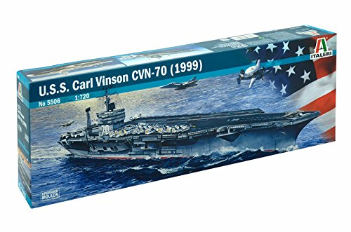 Italeri 5506 - uss carl vinson cvn-70 (1999) model kit  scala 1:720