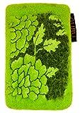 Guru-Shop Filz Handytasche Flora, Herren/Damen, Lemon, Wolle, 14x8x1 cm, Hüllen für Smartphone & Tablet