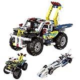 Maxxrace Bausteine Spielzeug, Stem Gebäude Auto Spielzeug, Engineering Fahrzeuge und Rennwagen Bausteine, 3 in 1 und 308 Stück, Spielzeug für Kinder und Jungen/ Mädchen