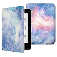 MoKo Case for Kindle Paperwhite, Premium Thinnest and Lightest PU Leather Cover with Auto Wake/Sleep for Amazon All-New Kindle Paperwhite (Fits 2012, 2013, 2015 and 2016 Versions), Dreamy Nebula