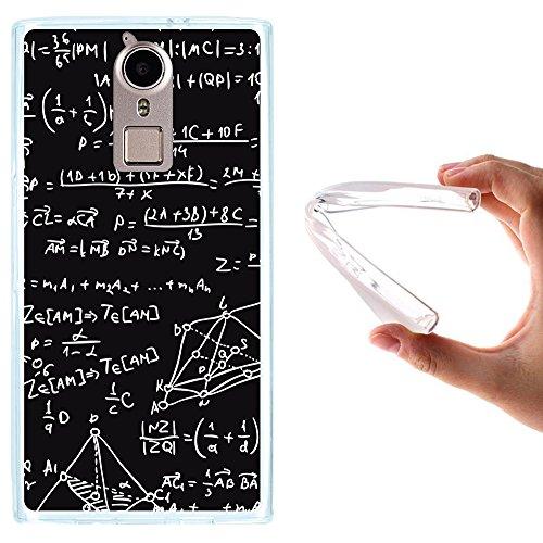 WoowCase Doogee F5 Hülle, Handyhülle Silikon für [ Doogee F5 ] Mathematische Formeln Handytasche Handy Cover Case Schutzhülle Flexible TPU - Transparent