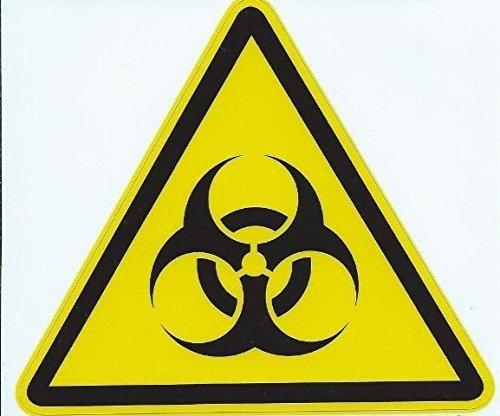 11,4x 10,2cm Biohazard segnale decalcomania Business segni decalcomanie