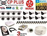 CP Plus 16 Ch HD Dvr & Mersk Full HD (3MP) CCTV Camera Kit with (All Required Accessories) Note : No Installation Service