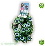 W01171002 Fahrradgirlande Blumengirlande Sonnenblume Blau 120 cm