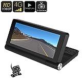 Bw 1080p Caméra de voiture–Android Os, écran 17,8cm, GPS, vue arrière Caméra de recul, détection de mouvement, Google Play, Bluetooth, WiFi, 4G