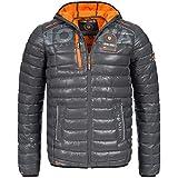 Geographical Norway BUDAPEST Herren Winterjacke Jacke Outdoor Steppjacke Gr. S-XXXL 4-Farben, Größe:L;Farbe:Grau
