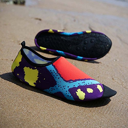 huateng Scarpe da Spiaggia Uomo e Donna Scarpe da Spiaggia a Piedi Nudi Scarpe da Nuoto Immersioni Gioca a Upstream Creek Uhoes Arancione