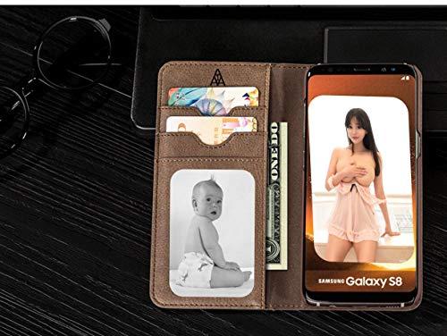 Mking Tech Geeignet für iPhone7 / 8/9 / Plus/XS/XS Max/XR-Flip, interner und externer Kartensteckplatz, Brieftasche. Samsung Galaxy S8 + / s8 / Note 8 vielseitige, Elegante Smartphone-Tasche