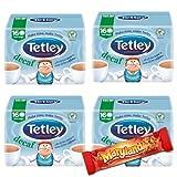 4x Tetley Thé décaféiné) 160coupe Sachets de thé Stocks UK ...