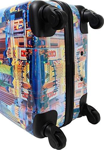 ABS Hartschalen Koffer mit Teleskopgriff und Zahlenschloss Las Vegas City