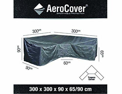 AeroCover Atmungsaktive und wasserdichte Schutzhülle in anthrazit für Lounge Möbel, in...