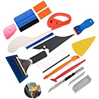 Car Window Tint Tools Kit Vinyl Squeegee Complete Install Tool Kit for Applying Self Adhesive Window Stickers ECHG 5Pcs Window Film Application Kit