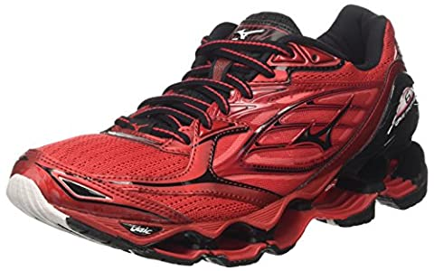 Mizuno Wave Prophecy, Chaussures de Running Homme, Multicolore (Chinese Red/ Black/White), 45 EU