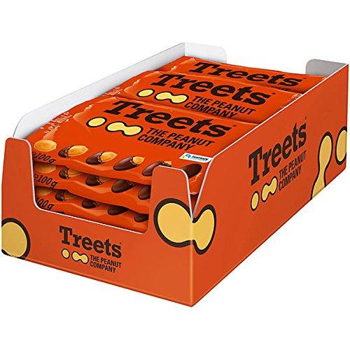 Erdnuss-schokolade (16 Beutel a 100g Treets The Peanut Company a 100g Erdnüsse mit Schokolade umhüllt)