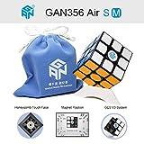 OJIN Ganspuzzle GAN 356 Air SM 3x3 Cubo de Velocidad Magnética Cubo Mágico Puzzle con Un Cubo de Trípode y Bolsa de Cub (Negro)