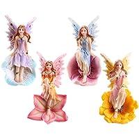 Juego de 4 diseño de flores de hadas jardín o Home diseño de Enchanted figuras de hada