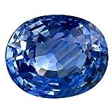 Pietra preziosa allentata con zaffiro blu naturale al 100% Ceylon blu da 1,36 ct (7 x 5 mm)