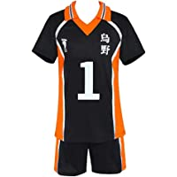 Athletice Haikyuu Costume Cosplay Karasuno Unisex Liceo Uniforme da pallavolo Hinata Shoyo Camicia Pantaloncini Tute…