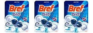 Bref Bloc Power Activ' Nettoyant WC Eau Bleue 50 g - Lot de 3