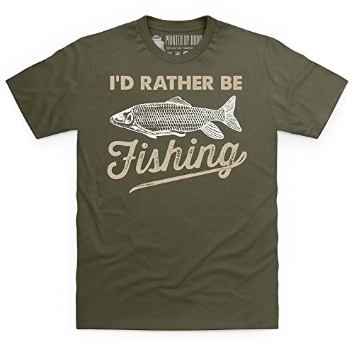I'd Rather Be Fishing T-Shirt, Herren Olivgrn