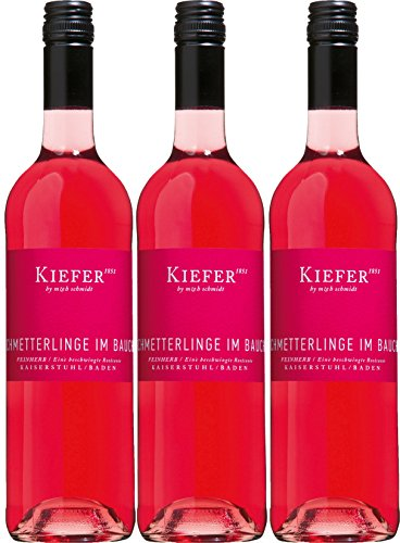 Schmetterlinge im Bauch - Kiefer - rosé - feinherb - 12,4 %vol. - 3er Paket