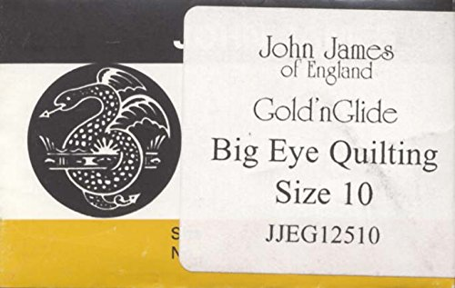 Gold'n Glide Big Eye Quilting Needles -Size 10 10/Pkg -