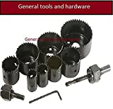 #10: General tools WOOD HOLE SAW SET 11PCS
