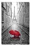 Startonight Impression Sur Toile Noir et Blanc Parapluie à Paris, Art Encadré...