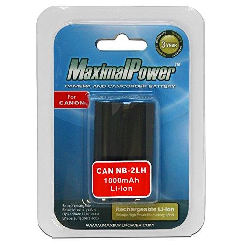 MaximalPower - Batteria da 1000 mAh per fotocamere Canon serie Digital Rebel, EOS, Powershot, Optura, Elura e ZR