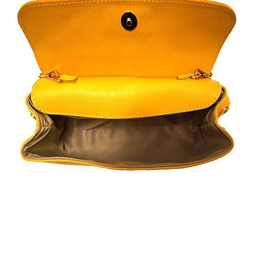 Pochette mit abnehmbarer Schultergurt 6145 Gelb