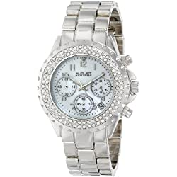AUGUST STEINER Damen-Armbanduhr Crystal Mother-Of-Pearl Analog Quarz AS8031SS
